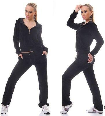 Utile Tuta Nera Donna Fitness Palestra Pantaloni + Felpa Vellutata Completo Tg. M Rafforzare L'Intero Sistema E Rafforzarlo