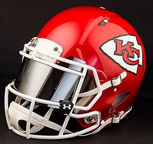 Custom Kansas City Chiefs Full Size Nfl Riddell Speed Football Helmet Ebay