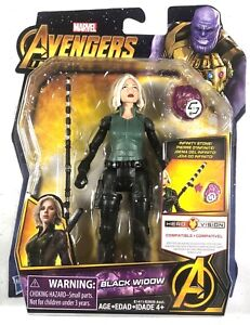 BLACK WIDOW Figure With Infinity Stone Marvel Avengers Infinity War 6 Inch
