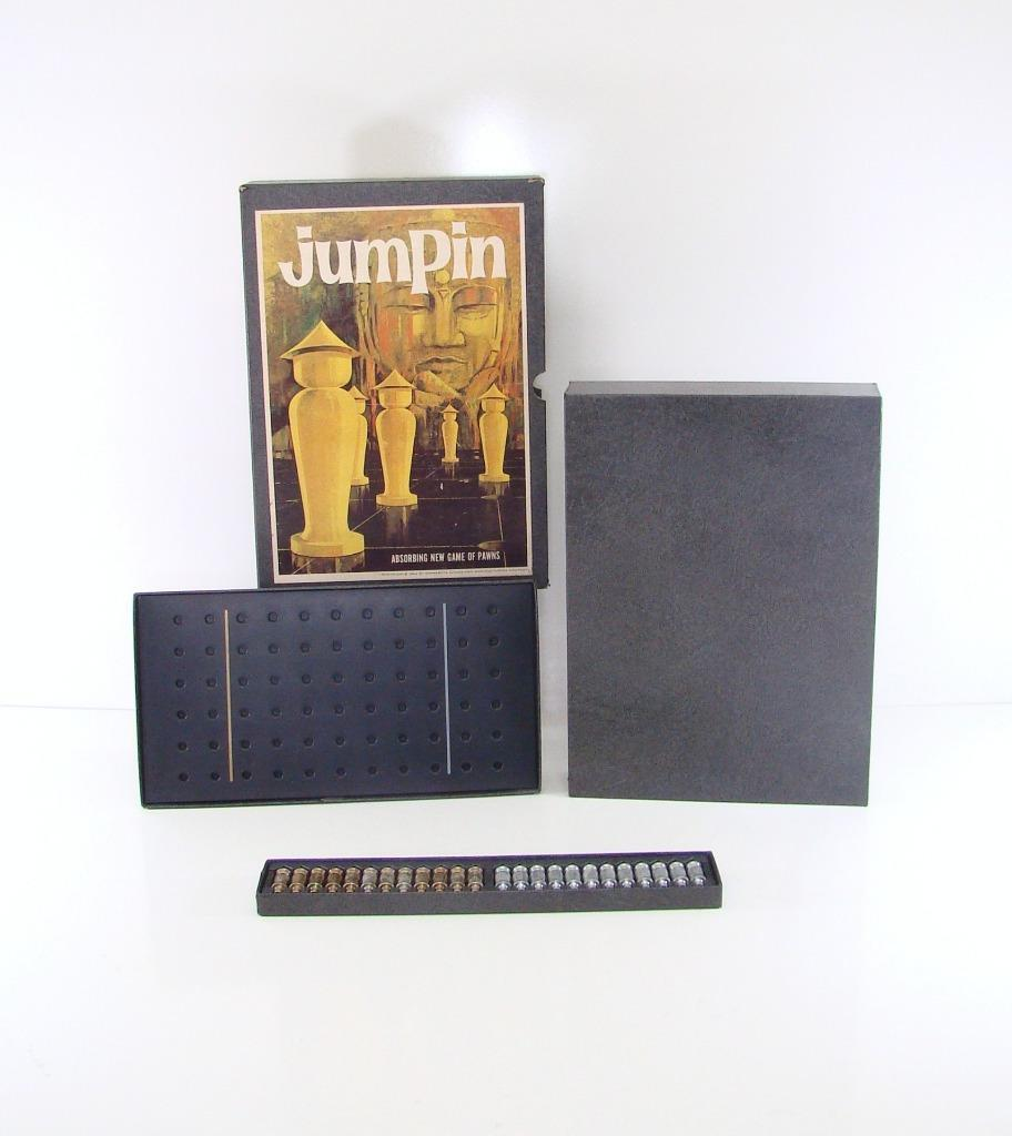 1964 JUMPIN ABSORBING NEW GAME OF PAWNS COMPLETE 3M BOOKSHELF STRATEGY