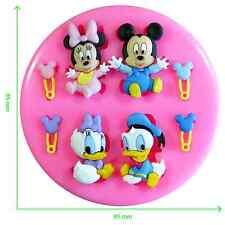 Disney Babies Mickey Mouse Y Amigos De Silicona Molde por FAIRIE bendiciones