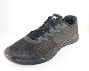 Nike-Metcon-Flyknit-3-Mens-Training-Shoes-AQ8022-Size-13-Triple-Black-Pre-owned