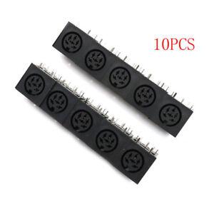 10x-DIN-6-broches-Jack-circulaire-femelle-Mount-PCB-Mount-Adaptateur-connecteur