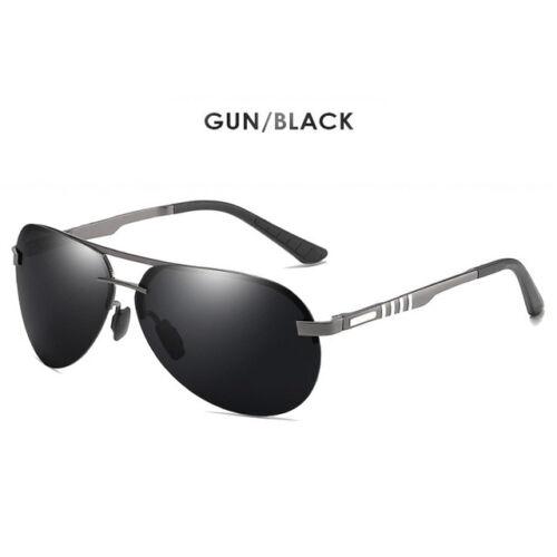 Brand Rimless HD Aviation Sunglasses Men Polarized Driving Sun Glasses for Male