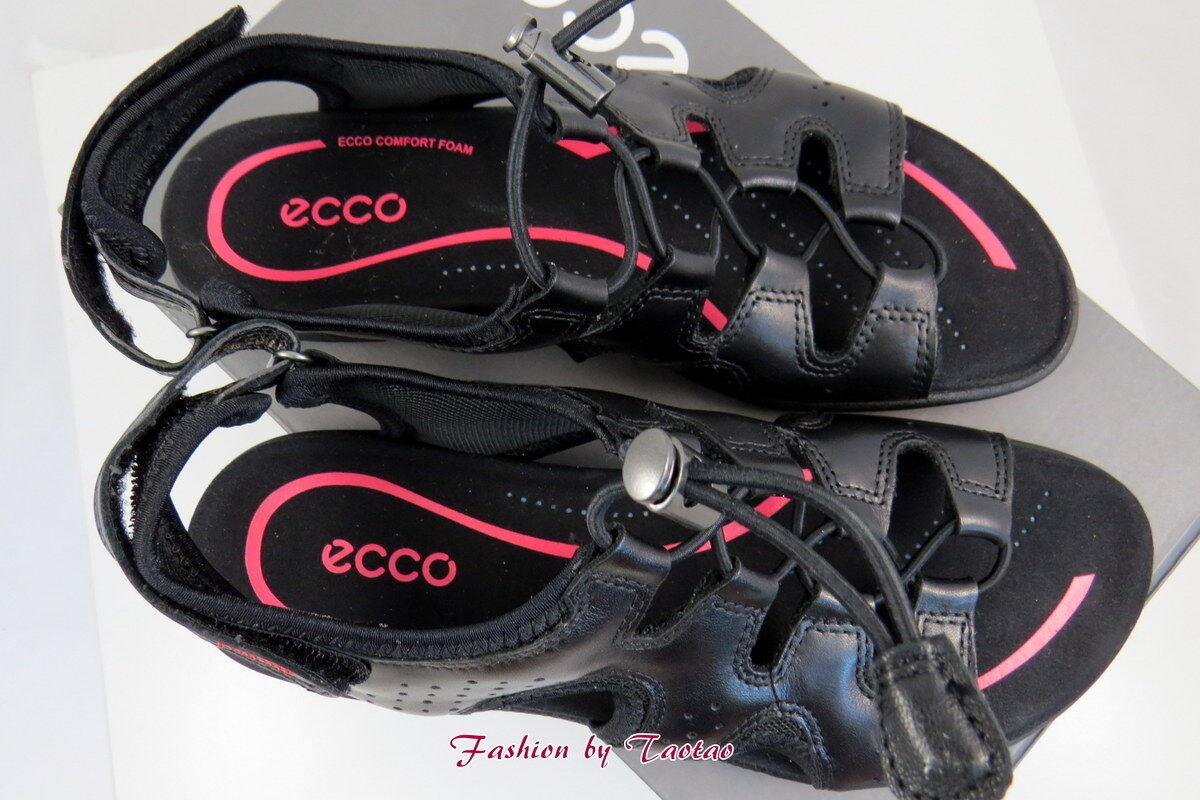 New New New in Box Womens ECCO blueMA TOGGLE SANDAL BLACK beba07