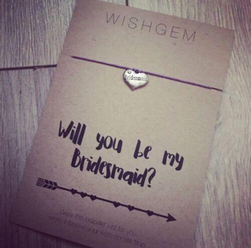 Veux-tu être ma demoiselle d/'honneur wish bracelet wishstring reveal