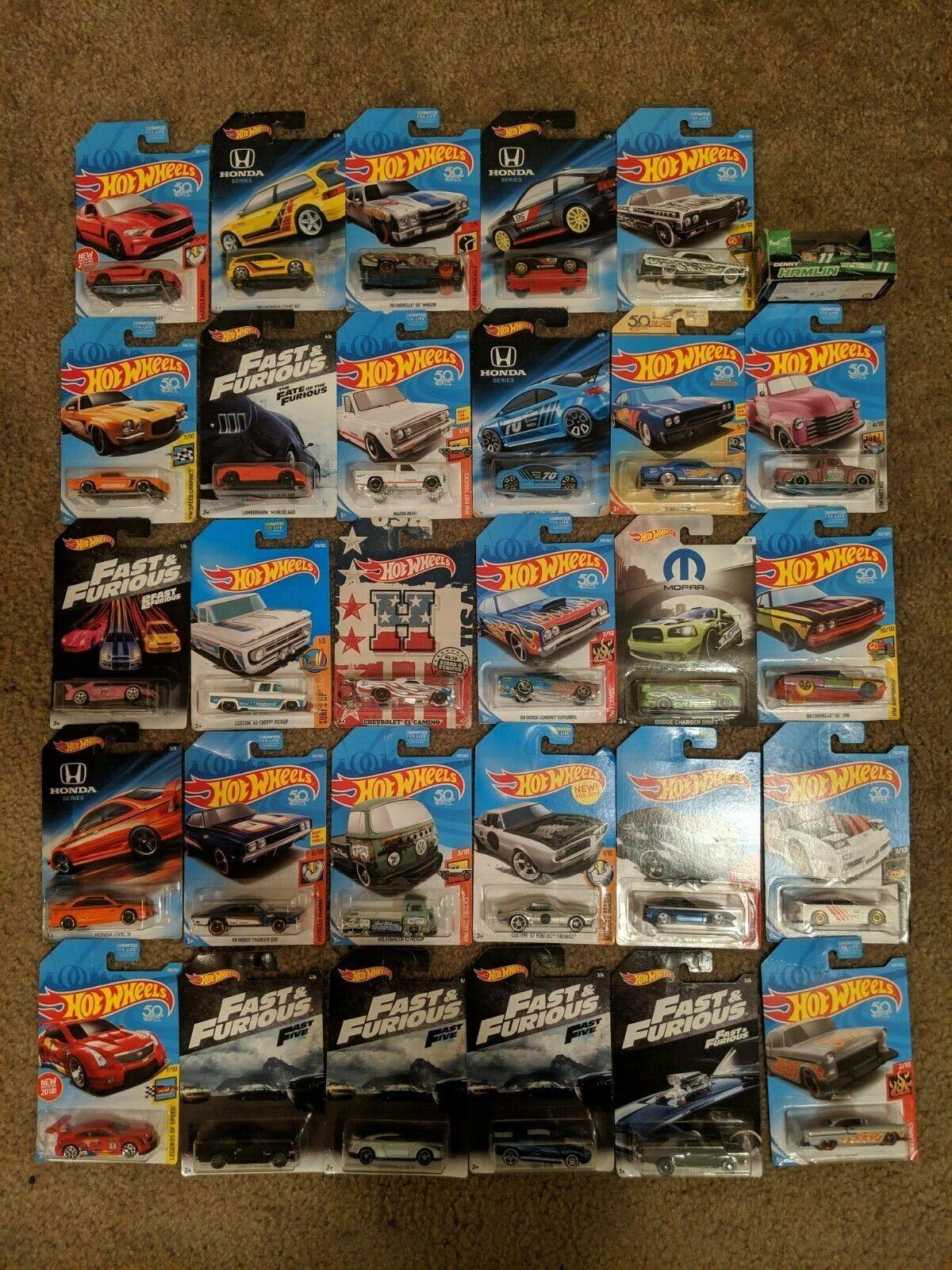 Hot Wheels de Mattel Lote Mixto Colección 30 rápido y el furioso Honda Series Y +