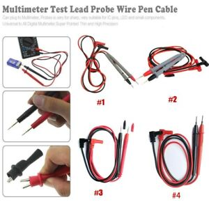 Universal Silicone Digital Multimeter Multi Meter Test Lead Probe Wire Pen-, Test Equipment Leads & Probes