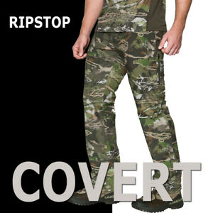 MENS-UNDER-ARMOUR-UA-STORM-COVERT-CAMO-HUNTING-PANTS-RIPSTOP-DURABLE-1279730-943