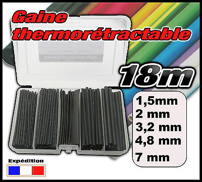 995N# assortiment 18m gaine thermo 2//1 noir 1,6-2,4-3,2-4,8-7mm