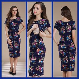 8decab3d3f0e3 Image is loading SALE-BNWT-NAVY-MATERNITY-BREASTFEEDING-NURSING-DRESS-SIZE-
