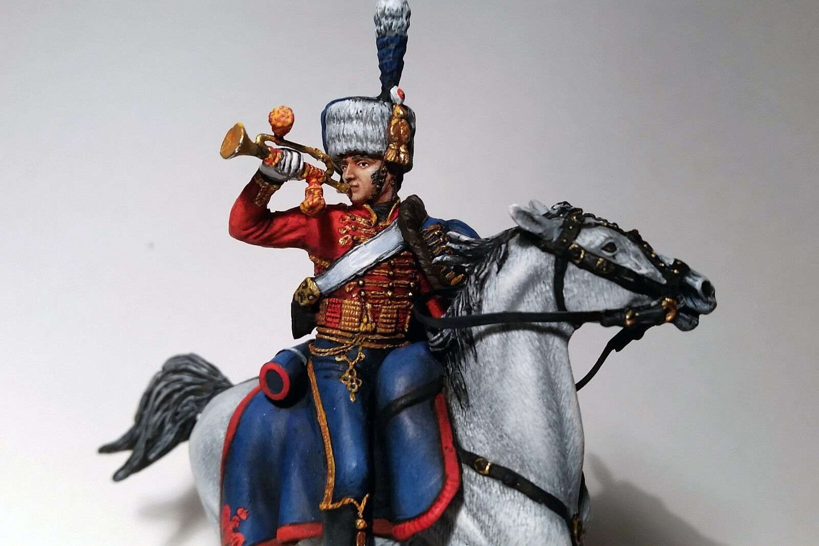 Trompette Tenue de parade (France); Historical Miniature; 54mm Cavalry;