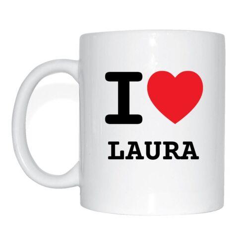 I love LAURA Tasse Kaffeetasse