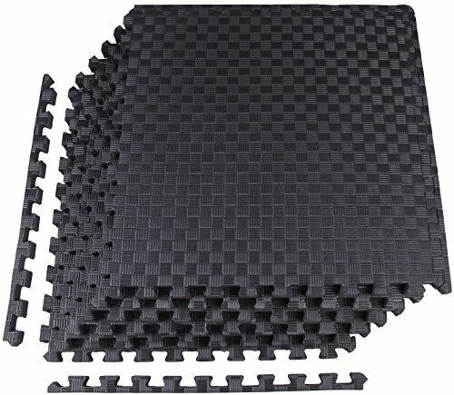 """12 Piece Black High Quality 1//2/"""" Thick Flooring Puzzle Exercise Mat 48 Sq Ft"""