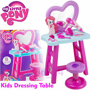 My Little Pony Dressing Table For Girls Mirror Stool Pretend Role ...