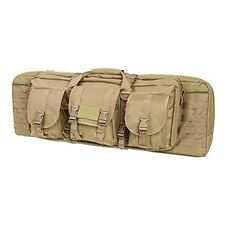 NcSTAR 36 in. Double Carbine Padded Rifle Case w/ Modular MOLLE Pouches Tan