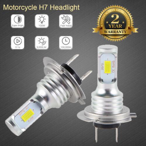 H7 100W LED Headlight Bulb For Kawasaki ZX10R 650R 636 ZX6R 250R 300 Ninja 6500K