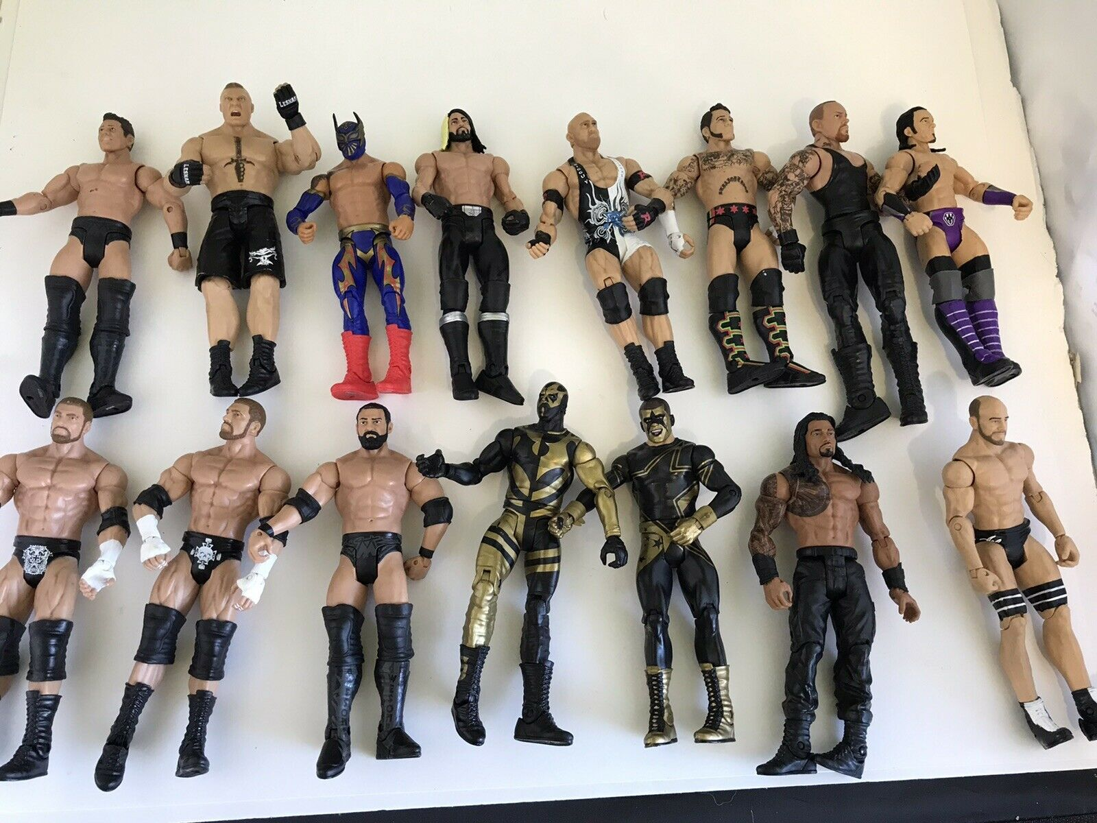 Lot Of 16 Mattel WWE azione cifra 20112012