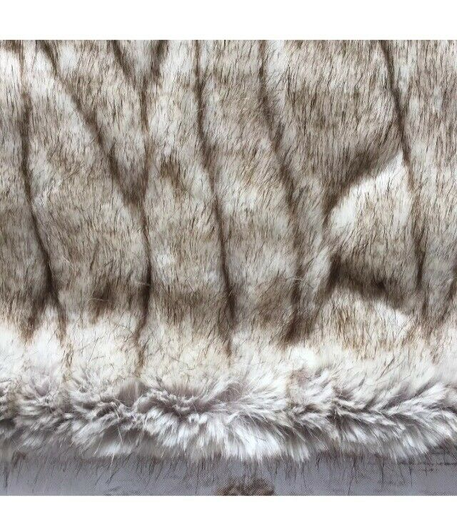 Pottery Barn Faux Fur Gatherot Pillow Cover Taupe Zipper Closure 26  x 26  New