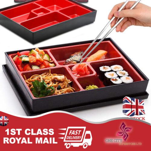 Bento Box Japanese Lunch Box Reusable Chopsticks Rice Sushi Catering UK