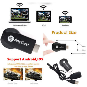 Details about AnyCast M2/4 M9 MX18 M100 Plus WiFi Display Receiver Airplay  Support Android IOS