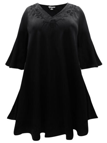 Xl Top Schwarzes Goth S Oberteil Langes Bestickt M 2xl Bluse Übergröße 4xl L 3xl rrqzB5