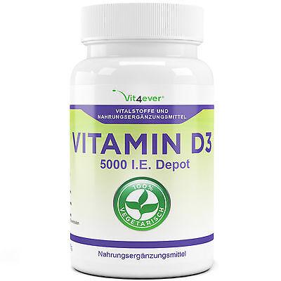 500 Tabletten Vitamin D3 5000IU IE Premium Qualität Vit4ever Immunsystem Knochen