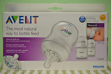 Avent Natural Feeding Bottle White 4oz/125ml (3 pcs.) SCF690/37