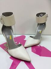 Vince White Off Leather High  Pumps Heels US Size 10M