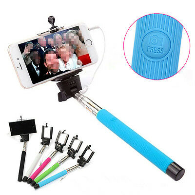 Extensible Remote Monopod Selfie Stick for iPhone Samsung HUAWEI SONY LG Nexus
