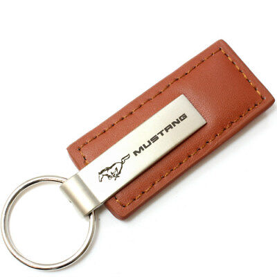 Ford F350 Rectangular Brown Leather Key Chain