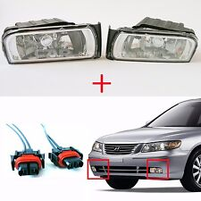 Hyundai 06-11 Azera Fog Driving Lights Left,Right Set  + Cable Connector Wiring