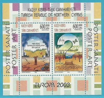 Block 21 Minr.578-579 Treu Türkisch-zypern Aus 2003 ** Postfr Plakatkunst! Europa