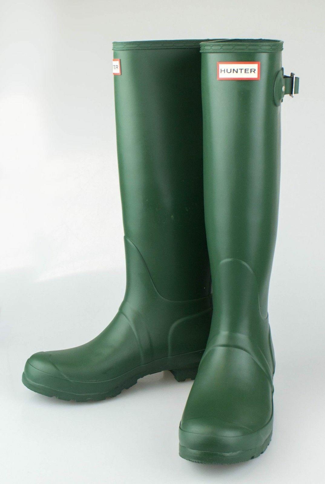 Nuevo en caja verde Oscuro Original Tall botas de Lluvia Zapatos Talla EE. UU. 6 Reino Unido 4