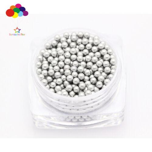 1000 pcs 12g Glass silver Micro Beads small No Hole 1.5-2mm Nail Art Caviar