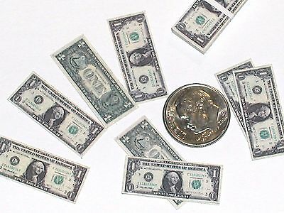 10pc Casa Delle Bambole Barbie Ken Play Denaro Lotto Doppio Lato 10x $ 1 Dolorante