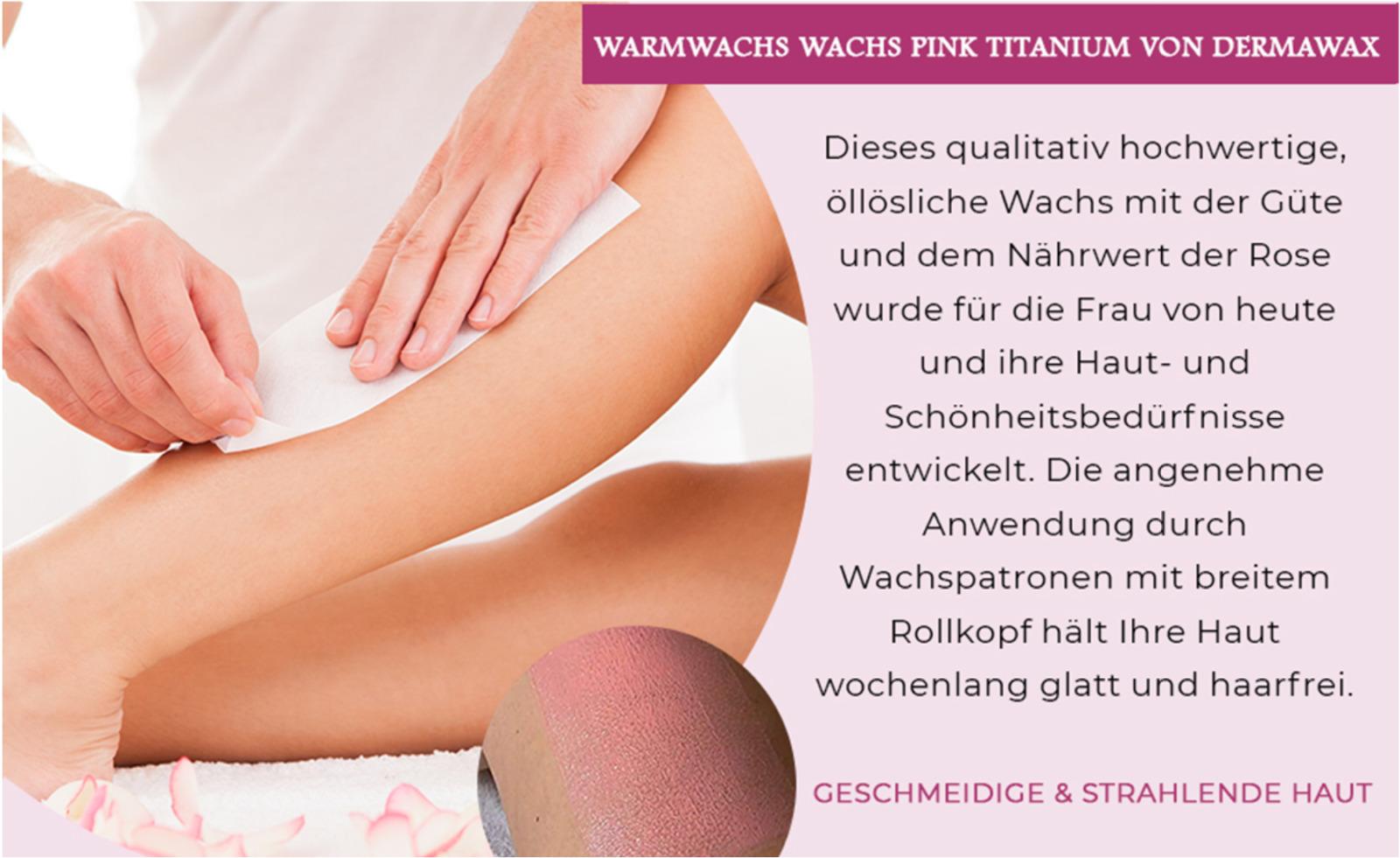 Dermawax Roll-on Pink Wachspatronen Warmwachs zur Haarentfernung Enthaarung