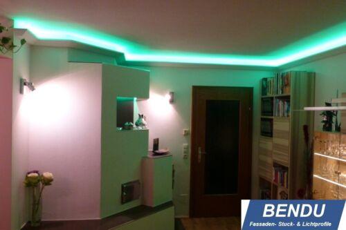 20m LED Stuckleisten Lichtvouten indirekte Beleuchtung Decke Wohnzimmer BENDU
