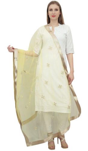 Phagun Frauenhalswickel Designer Net Dupatta Indian Stahl Langhub