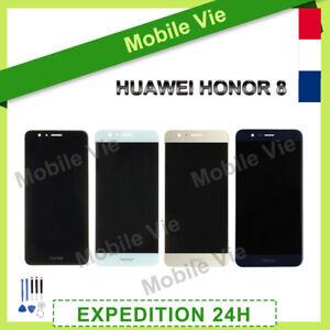 VITRE TACTILE + ECRAN LCD PRET-A-MONTE POUR HUAWEI HONOR 8 NOIR/ BLANC/ OR/ BLEU