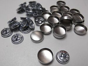 20 X NO 30 WIRE LOOP  BACK UPHOLSTERY BUTTONS SELF COVER FABRIC //COVERING