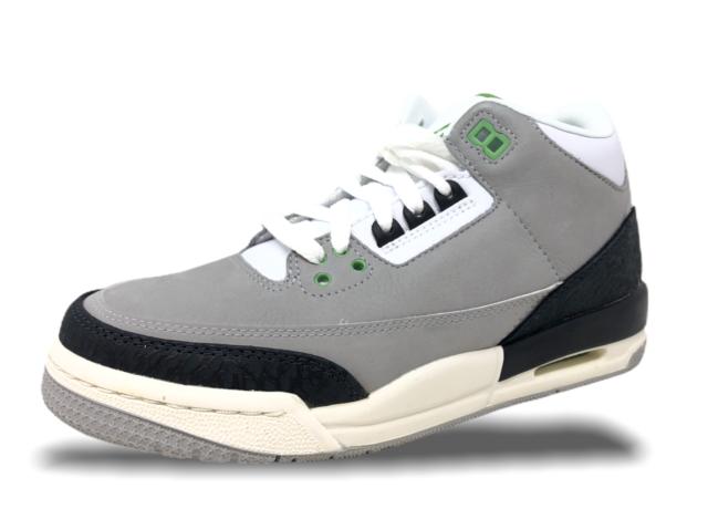 grey green jordan 3