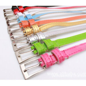 Women-Female-Multi-color-Belt-Small-Candy-Color-Thin-Leather-Belts-Applied