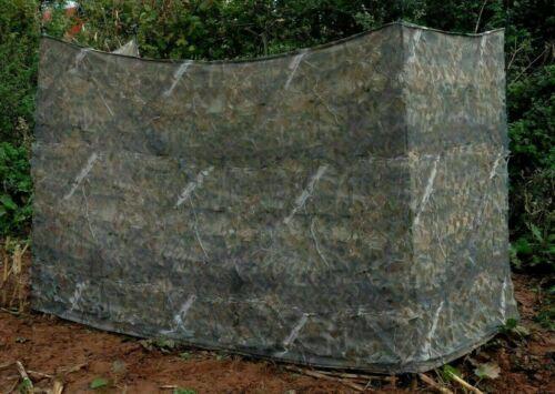 Stealth Camouflage cacher 2 Couche Filet Pigeon Tir Leurre 4 M Woodland Brown Pattern