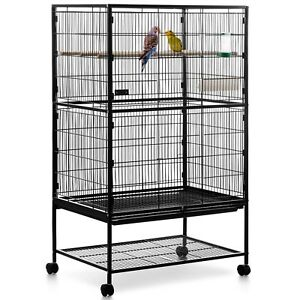 5295eb41af32 Milo   Misty 2 Tier Large Metal Aviary Bird Cage Cockatiels