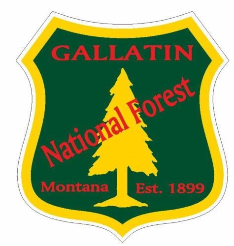 Gallatin National Forest Sticker R3237 Montana YOU CHOOSE SIZE