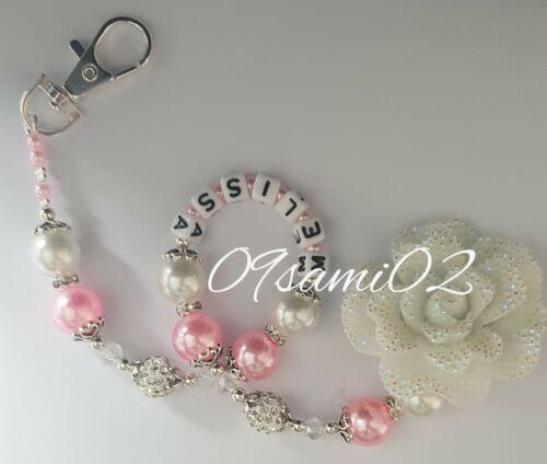 ❤❤ Bling Fiore Shamballa /& Cristallo Romany Manichino Clip Personalizzate Rosa//Bianco!!
