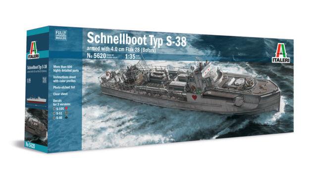 Italeri 1/35 Schnellboot Typ S-38 armed with 4.0cm Flak 28 (Bofors) # 5620