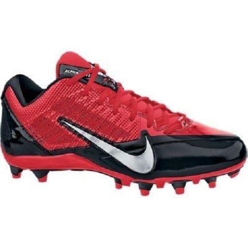 945528f4e0a Men s Nike Alpha Alpha Alpha Pro TD Football Cleats - Red Black Silver -  NIB! 617dcc