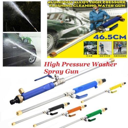 Garden Hose High Pressure Power Washer Water Spray Gun Nozzle Wand Attachment US